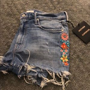 Mother size 30 floral cutoff shorts